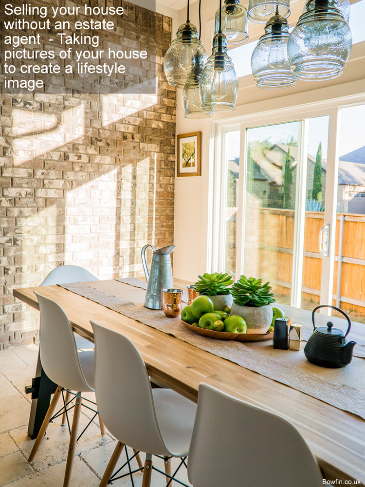 Selling your house without an estate agent  - Taking pictures of your house to create a lifestyle image