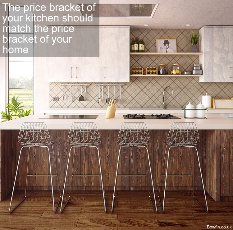 The price bracket of your kitchen should match the price bracket of your home in the UK