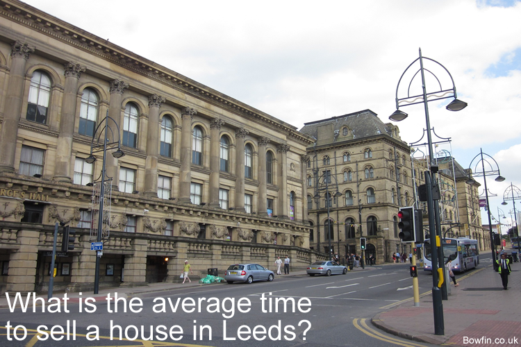What is the average time to sell a house in Leeds