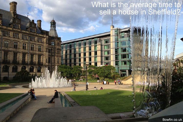 What is the average time to sell a house in Sheffield