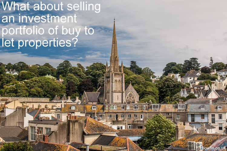 How do you sell an investment portfolio of buy to let properties