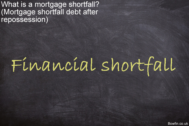What is a mortgage shortfall - Mortgage shortfall debt after repossession