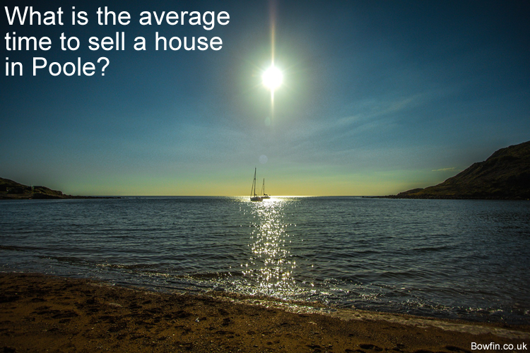 What is the average time to sell a house in Poole