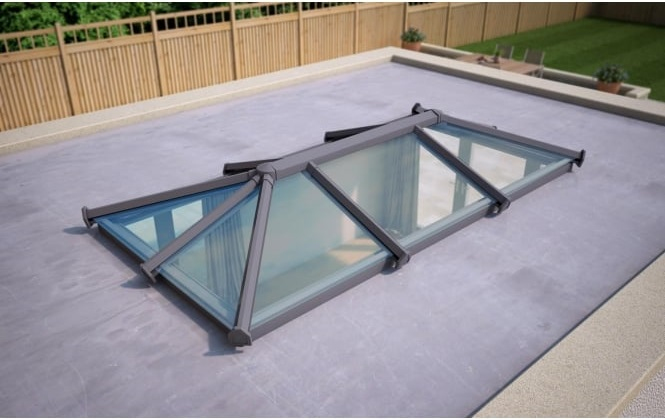 Buying a house with a flat roof extension - Glass roof lantern