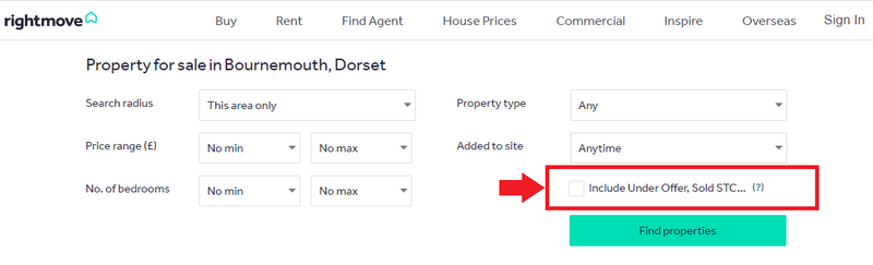 How to arrange a viewing of a property that is under offer - Sold STC on Rightmove