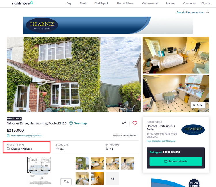 Cluster houses on Rightmove - Property Type Cluster House