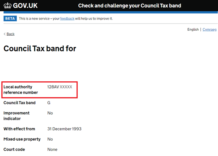 How to find your local authority reference number