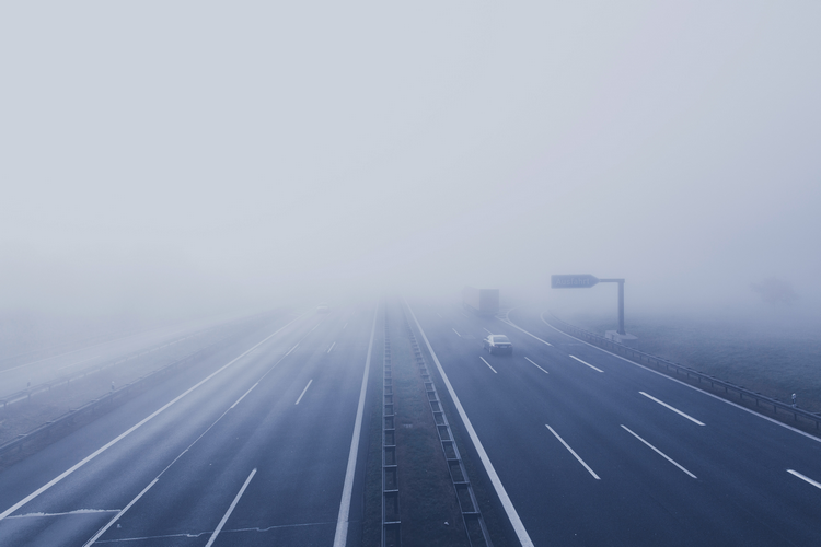 What weather conditions affect the noise levels from a motorway